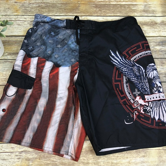 86fe4915cd Joe Boxer Swim | Mens American Flag Eagle Trunks Size Xxl | Poshmark